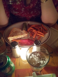 Cubano and sweet potato fries